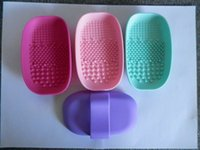 Wholesale Makeup Brush The New Silicone Wash Pad Makeup Brush To Clean Pad The Silicone Express Brush Cleaning Mat Clean Gloves