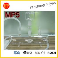 Wholesale HUIYAO MP5 glass hookah More stable clear glass hookah shisha hookah with bowl glass pipe and silicon hose with foam package for lavoo