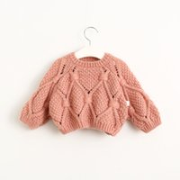 Wholesale 2016 spring autumn neutral Round Neck baby boys girls Long Seleeve knitting pullover sweaters Fit T E1492