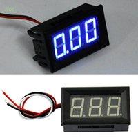 Оптовая Новый мини синий светодиодный Panel Meter Мини цифровой вольтметр для постоянного тока 0-100V Вольтметр 10SJM