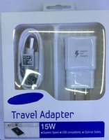 Wholesale Good quality V A V A Adaptive Fast Charging Travel Wall Charger usb cable For Samsung Galaxy S6 Edge Plus Note Note