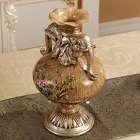 american devices - Continental retro Home Furnishing table decoration crafts ornaments American living room simulation device inserted small dry vase of flower
