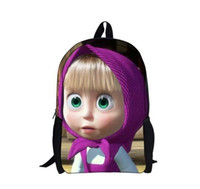 bagpacks for school - New D masha and bear printing school bags for teenager girls cute cartoon student schoolbags children bagpacks mochila infantil