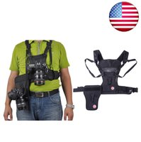 Wholesale US STOCK Micnova MQ MSP01 Multi Camera Carrier Harness Holster System Photographer Vest with Side Holster for Canon Nikon Sony Olympus DSLR