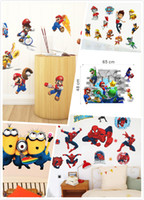 wall decoration wallpaper - Mix Order Removable Cartoon Wall Stickers for Kids Nusery Rooms Decorative Wall Decals Home Decoration Movie Wallpaper Vinyl Wall Art