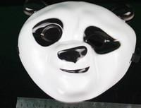 beautiful pandas - 20pcs Party Masks Cute Beautiful Kung Fu Panda Mask Full Face Mask Hallowmas Christmas Gift Drop Ship