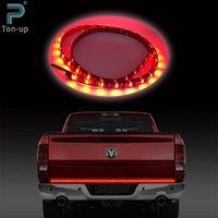 Wholesale 49 quot Flexible Truck Pickup Tailgate Red White LED Light Bar Running Reverse Brake Turn Signal Lights for Cars Trucks SUV VAN