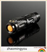 Wholesale CREE LED Flashlight Mini Black CREE LM Waterproof Q5 LED Flashlight Modes Zoomable LED Torch Penlight Flashlight