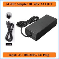 Wholesale 48V A AC DC Adapter EU Plug AC V V Converter Adapters to DC V A W Power Supply chargers for Led Strips Lights
