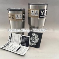 Wholesale Hot Bilayer Stainless Steel Insulation Cup OZ OZ YETI Cups Cars Beer Mug Large Capacity Mug Tumblerful