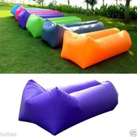Wholesale Lazy Air Hangout Fast Inflatable Sleeping Bed Sofa for Outdoor Camping Beach Bag Outdoor Fast Lazy Bag Sleeping Inflatable Sofa Bed