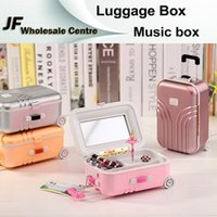 animated musical toys - New Luggage Jewelry Box Music Box Birthday Gift Toys For Children Bless Animated Luxury Go Round Musical Rotate the girl Classic Music Box