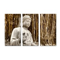 art and religion - Stone Buddha Canvas Wall Art Painting Pictures Print On Canvas Religion Photo Print on Canvas Posters And Prints For Home Modern Decoration