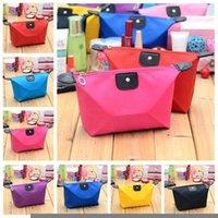 Wholesale Candy Color Women Senior Waterproof Nylon Lady s Cosmetic Organizer Bag Cosmetic Bag Makeup Bag cm