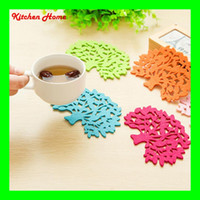 Wholesale Felt Table Mat Cup Pad Tree Shape Design Lovely Felt Bowl Pot Coaster Cup Mat Phone Ipad Mat for Bowl Mug Glass Plate