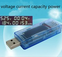 ammeters and voltmeters - in OLED display Mini USB Charger Capacity Power Current Voltage Tester Meter Voltmeter and ammeter off