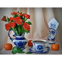 antique rose vase - HWC Diy Diamond Painting home decor Rose vase square diamond mosaic Needlework diamond picture wallpaper gift X38CM
