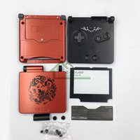 advance sp - Full Housing Shell Case for GBA SP Chinese Dragon Hard Surface Shell Cover Replacement for Nintendo Gameboy Advance