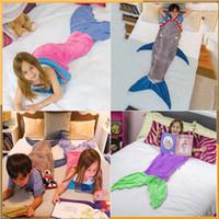 Wholesale Mermaid Blanket Towel Envelopes For T Kids Soft Animal Sleeping Bag Pajamas Overalls Children Quilt Velvet Shark Blanket