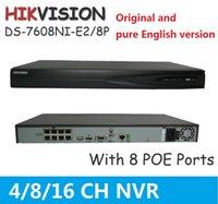 Precio de Tercero-HIKVISION NVR Mejor Grabadora de Video en Red 5 Megapíxeles Resolución Grabación Cámaras de Red de Terceros Compatible DS-7608NI-E2 / 8P