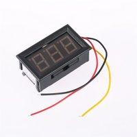 Оптово-1Pc красный светодиод Мини Цифровой вольтметр 0-100V Автотранспортные Напряжение метр панели бесплатная доставка