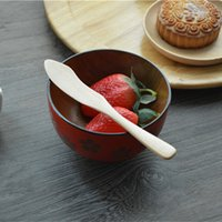 Wholesale MUXING Wood Cheese Knife cm Burlywood Jam Dinner Knives Janpese Style Tableware MOQ