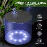Wholesale Inflatable Solar Light Solar Energy Waterproof High Grade Foldable PVC Bag Inflatable Solar LED Camping Light Lamp