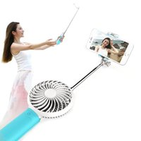 bank sticks - Power Bank Selfie Sticks with fan Phone Camera Self Shutter mah battery power for iPhone Android phones