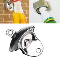Wholesale New Stainless steel wall mounted bottle opener Wall opener Beer bottle opener with screws on the wall
