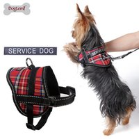 Wholesale Refective Puppy Dog Service Harness with slogan