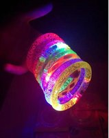 april crystal gifts - New Style LED Shine Bracelets Lucency Luminous Hand Ring Lighted Toys Crystal bracelet Kid Toys Christmas Gift Via DHL Ship
