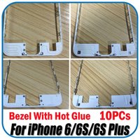 Wholesale 10PCs For iPhone S Plus LCD Screen Bezel Frame With Hot Glue Black White For iPhone LCD Repair Replacement