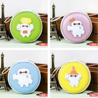 batch pc - Fat sunshine Baymax silicone coin wallet Round key packet Zipper various colors pattern coin purses Starting batch