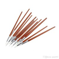 Wholesale 12pcs set Fine Red Pearl Wooden Paint Acrylic Watercolor Oil Painting Artists Brushes D0635