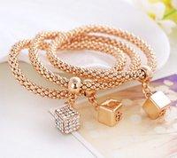 bezel blocks - 2016 New Fashion High Quality Bracelets Bangles Jewelry Geometric block zinc alloy gilded bracelet a woman s gift