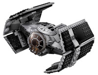 advanced models - 722Pcs Stars Wars Vader s TIE Advanced VS A Wing Starfighter Model Minifigure Building Blocks Brick toy starwars toy