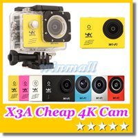 action camera cheap - X3A Cheap K Action camera Waterproof F60 V3 K fps P fps WiFi quot Degree Helmet Cam underwater Gopro SJ7000 Style