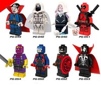 Wholesale The Avengers Super Heroes Building Block Hydra Captain Doctor Strange Moon Knight Atom Spawn Minifigure Toy children s christmas gifts