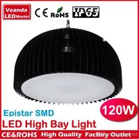 Wholesale Industrial lighting UFO finned radiator W LED high bay light for warehouse pendant lamp High brightness Epistar SMD Chip AC85 V