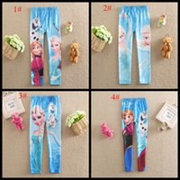 Wholesale Cute baby girls leggings cartoon children pant good quality girl s tight pants Full print kids trousers styles
