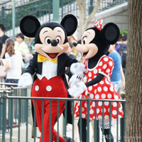 Wholesale Couple Mickey Minne Mouse Cartoon Mascot Costume School Mascots Character Men Costumes For Guys Fast Ship