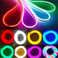 Wholesale LED Neon Light Flexible Lights Bar RGB V ws2812 Ultra Thin Advertising Sign Modeling Waterproof IP65 Outdoor Lighting Project