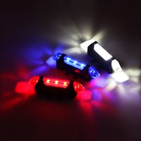 Wholesale Portable Rechargeable LED USB Cycling Bike Tail Light Taillight MTB Safety Warning Bicycle Rear Seat Light Lamp Bicycle Light