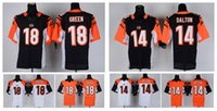 bengals colors - HOT SALE Men s Bengals Elite Football Jerseys DALTON GREEN MANGOLD High Quality Stitched authentic Two Colors Allowed
