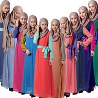 arabian clothes - 2016 Cheap Evening Gowns Chiffon Kaftan Dubai Arabian Dress Long Sleeves Muslim Latest Middle East Kaftan Abaya Muslim clothing
