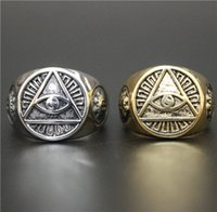 band saws - Size Hot Sellers Fashion Jewelry Cool God Eye Ring L Stainless Steel Hot Polishing All See Eye Biker Ring