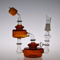 bear glass jar - New arrival Bear Moutain Studios Honey Jar Recycler Oil rigs Glass water pipes with inline perc mm joint