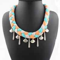 Wholesale Colorful Braid Shell Designer Pendant Scarf for Women Ladies Fashion Charm JewelryScarves Wraps Warm Autumn Winter