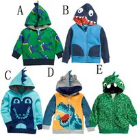 Wholesale Cute Baby Boys Jacket Clothes Cartoon Hooded Outerwear Coats Children Spring Clothing Kids Animal Cotton Thin Coat