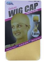 Wholesale 12pc NEW Fishnet Wig Cap Stretchable Elastic Hair Net Snood Wig Cap Wig Cap hair net